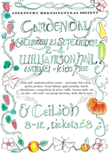 Garden Day 21 Sep 2013. 2-4pm and Ceilidh 8pm - midnight.