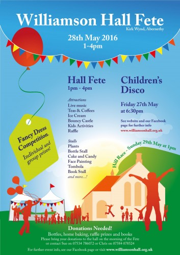 Williamson Hall Fete 2016 Poster